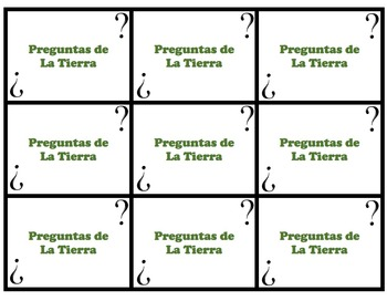 Speaking Questions Cards Realidades 2 (Earth / Professions Vocab)