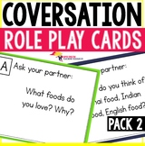 Speaking Role Play Cards ESL Pack 2 - Food Eating Habits