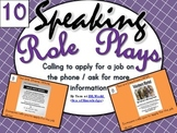 Speaking Role Play Cards ESL Pack 10 {Applying for Jobs}
