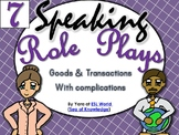 Speaking Role Play Cards ESL Pack 7 {Goods & Transactions}
