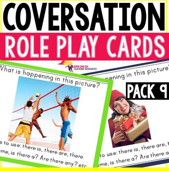 Speaking Role Play Cards ESL Pack 9 {Describing a Picture/
