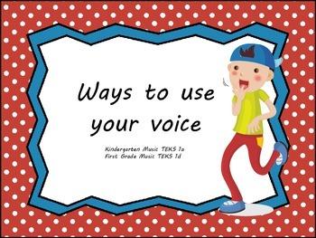 Speaking, Singing, Whispering, Calling