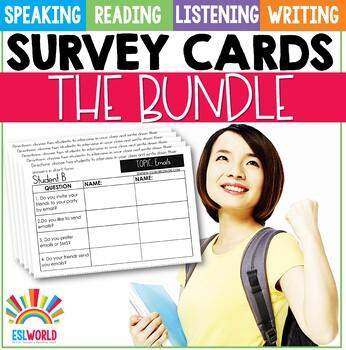 Speaking Survey Cards Bundle