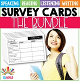 Speaking Survey Cards Bundle