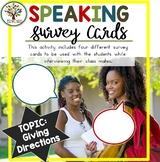 Speaking Activities ESL Surveys - Giving Directions