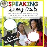 Speaking Activities ESL Surveys - Halloween