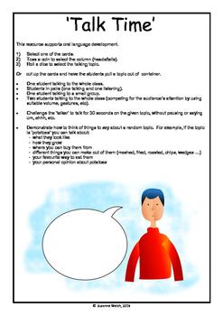 Speaking / Talking resource for oral language development.