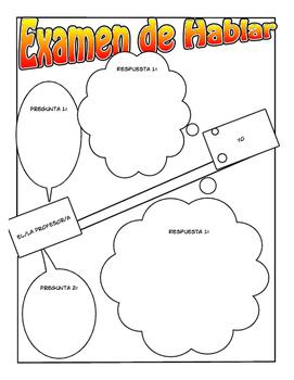 Spanish Speaking Test Prep Sheet