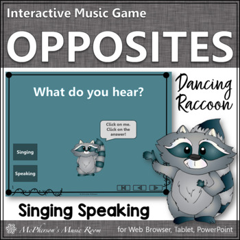 2 Voices: Speaking Voice or Singing Voice ~ Interactive Music Game {raccoon}
