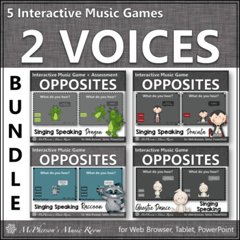 Speaking Voice or Singing Voice - Interactive Music Games {Bundle} 2 voices