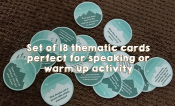 Speaking / Warm up Activity Cards - Climbing