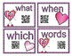 Speaking Word Wall QR Cards for Valentine's Day