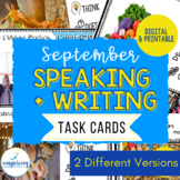 Speaking & Writing Cards for ELL Students {September}