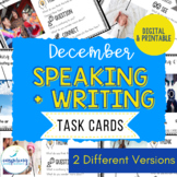 Speaking & Writing Cards for ELL Students {December}