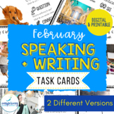 Speaking & Writing Cards for ELL Students {February}