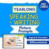 Speaking & Writing Cards for ELL Newcomers {Yearlong Bundle}