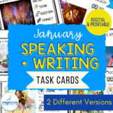Speaking & Writing Cards for ELL Students {January}