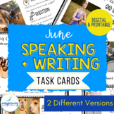 Speaking & Writing Cards for ELL Students {June}