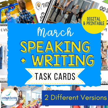 Speaking & Writing Cards for ELL Students {March}