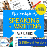 Speaking & Writing Cards for ELL Students {November}