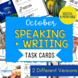 Speaking & Writing Cards for ELL Students {October}