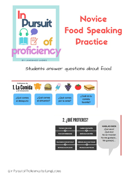 Speaking About Food (Comida)