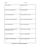 Speaking activity for level 1 Spanish
