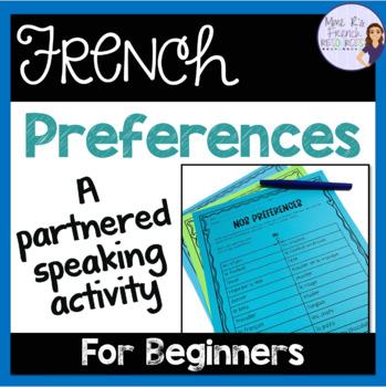 French er verbs speaking activity