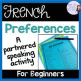 French speaking activity - er verbs COMMUNICATION ORALE LES VERBES EN -ER
