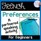 French speaking activity - er verbs COMMUNICATION ORALE LE
