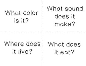 Conversation Kit: Describing Animals {ESL} (Kindergarten Wonders Unit 7 Week 1)