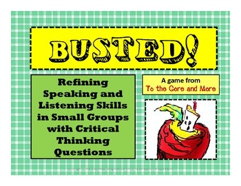 Common Core Aligned Speaking and Listening Skills Game - O
