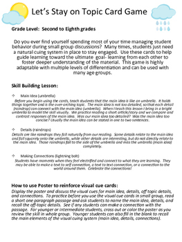 Speaking and Listening Card Game and Lesson