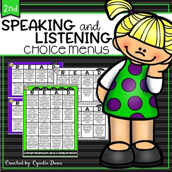 Speaking and Listening Choice Boards