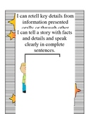 Speaking and Listening Common Core Standards Chart