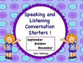 Speaking and Listening Conversation Starters for September