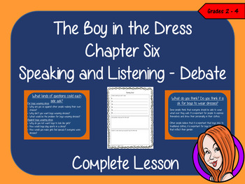 Speaking and Listening Debate Lesson  –  The Boy in The Dress