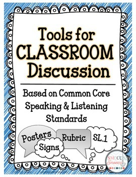 Speaking and Listening Discussion Tools