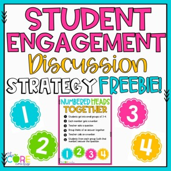 Student Engagement Discussion Strategies FREEBIE Activitiy