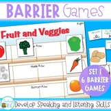 Barrier Games for Speaking and Listening