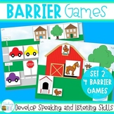 Barrier Games for Speaking and Listening Set 2