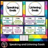 Speaking and Listening Goals Posters