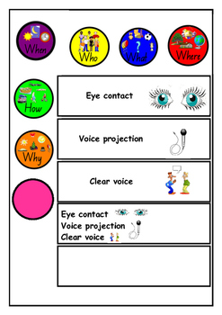 Speaking and Listening Interactive Poster and Activity