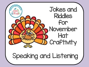 Fall Speaking and Listening Jokes and Riddles for November