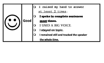 Speaking and Listening Rubric Poster