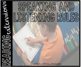 Speaking and Listening Rules (Reading Extensions)