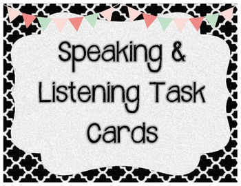 Speaking and Listening Task Cards