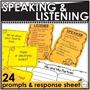 Speaking and Listening Task Cards {FREEBIE}