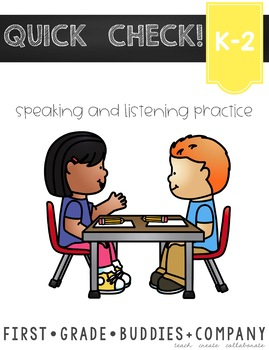 Speaking and Listening Task Cards {Homework} for Primary Grades