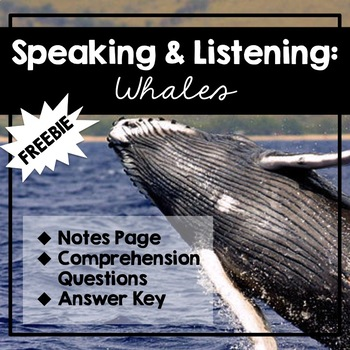 Speaking and Listening - Whales